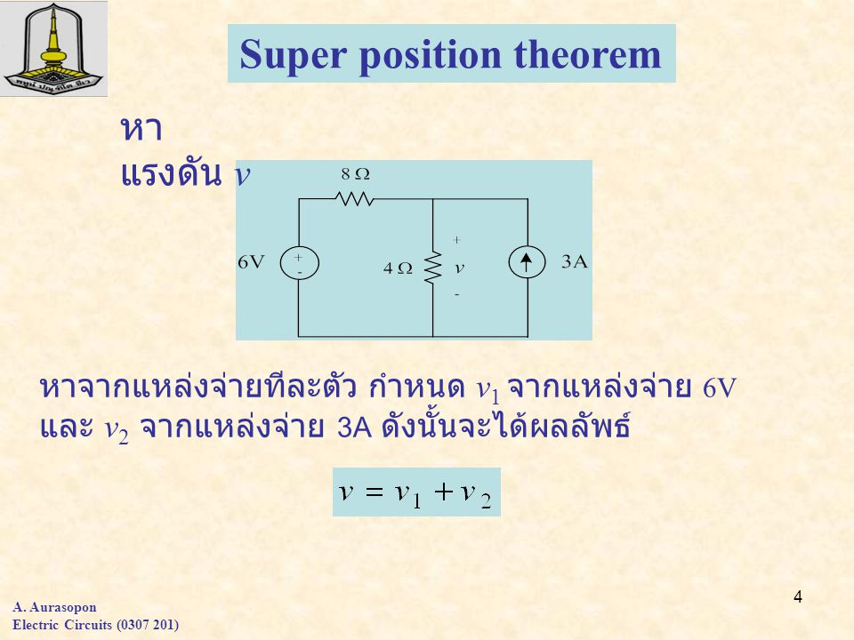 Super position theorem