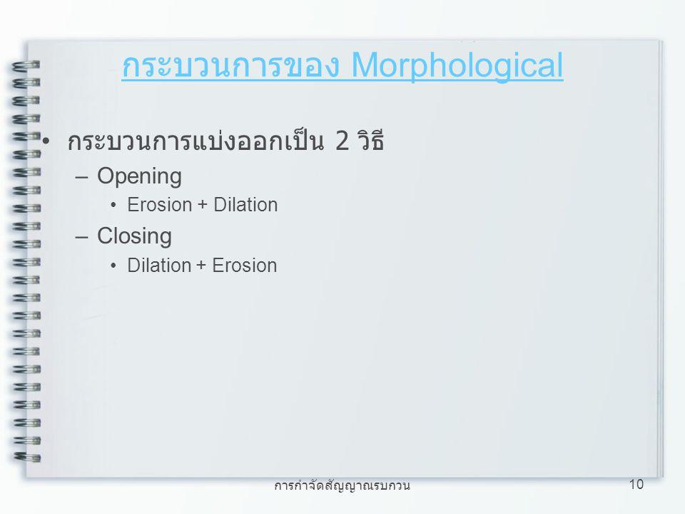 กระบวนการของ Morphological