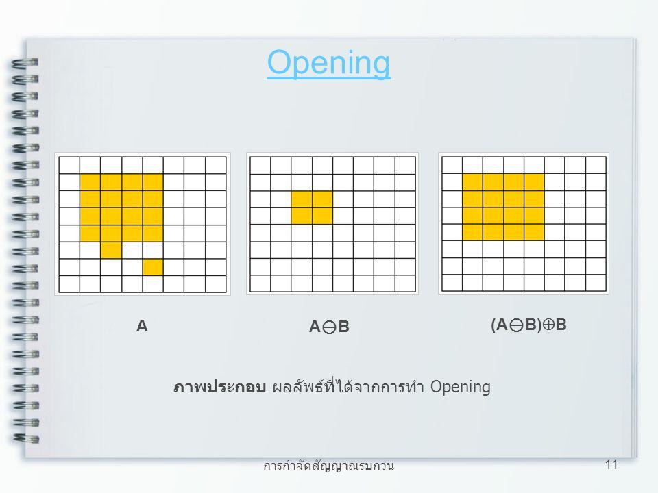 ภาพประกอบ ผลลัพธ์ที่ได้จากการทำ Opening