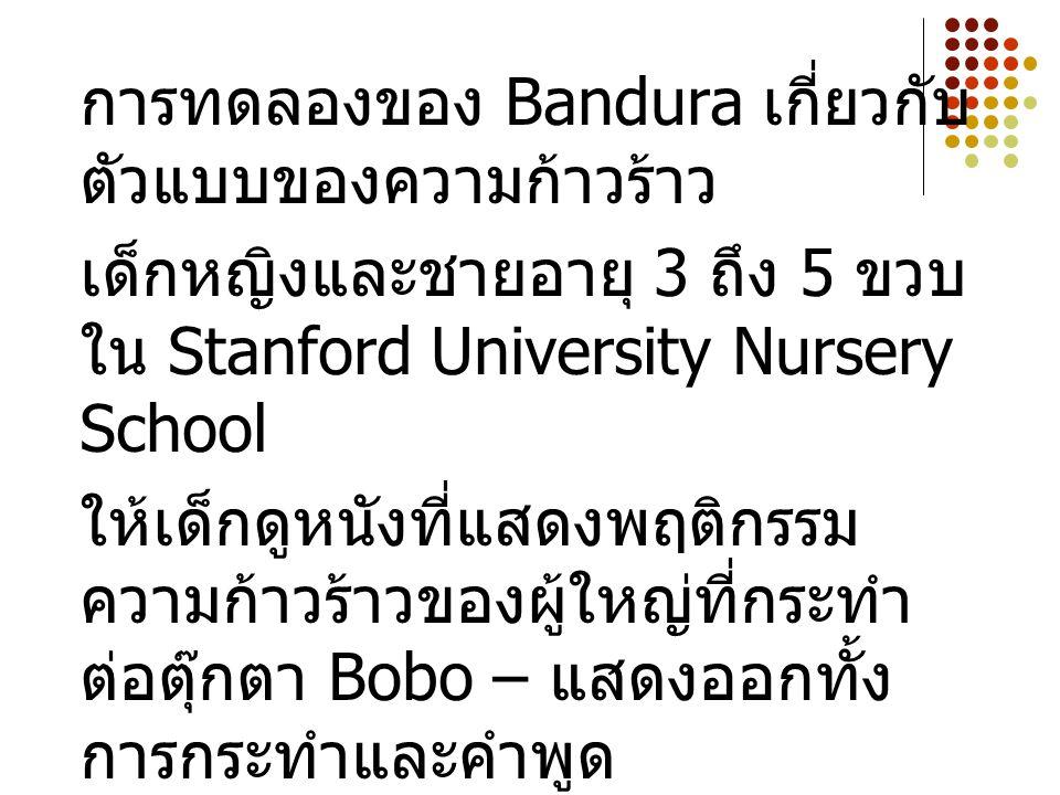 การทดลองของ Bandura เกี่ยวกับตัวแบบของความก้าวร้าว