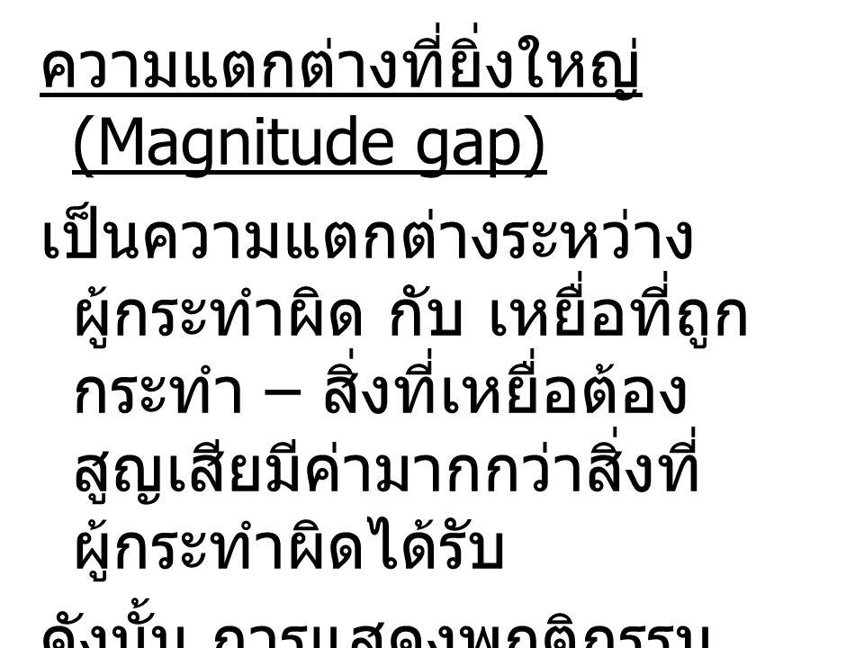 ความแตกต่างที่ยิ่งใหญ่ (Magnitude gap)