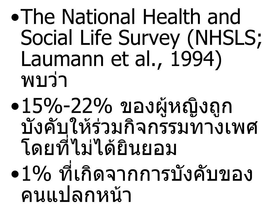 The National Health and Social Life Survey (NHSLS; Laumann et al