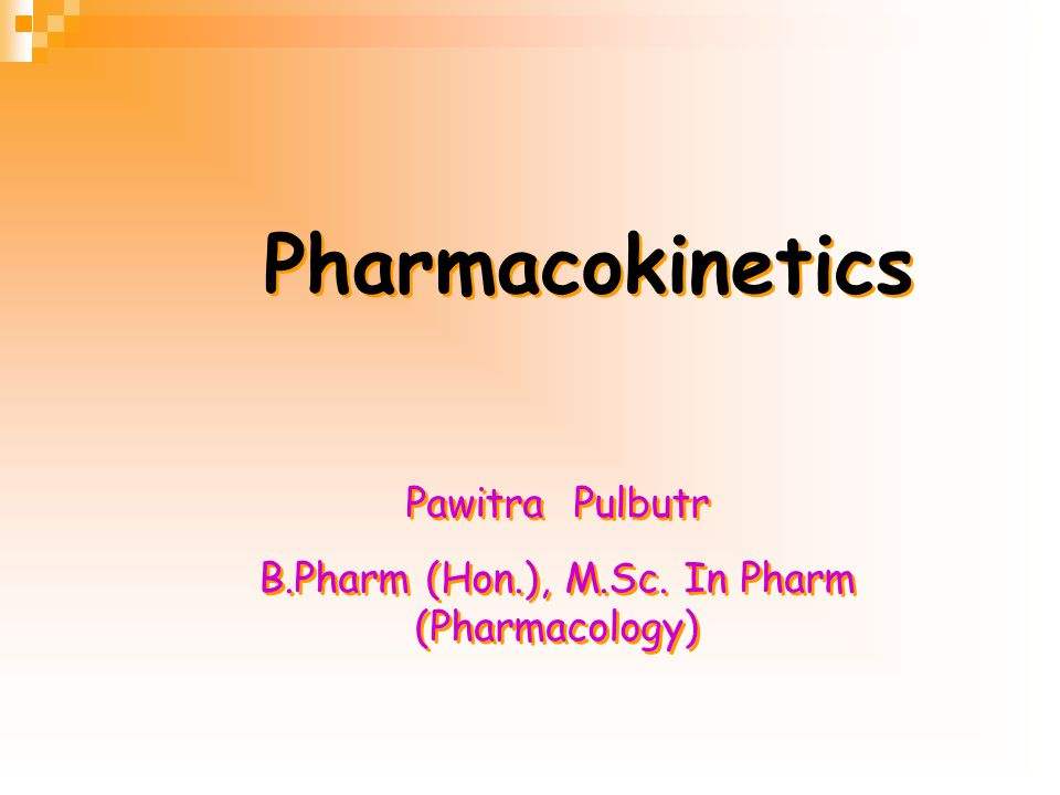 B.Pharm (Hon.), M.Sc. In Pharm (Pharmacology)
