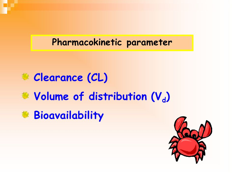 Pharmacokinetic parameter