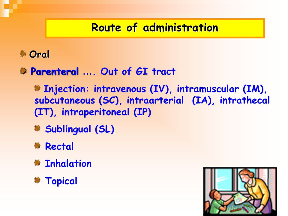 Route of administration
