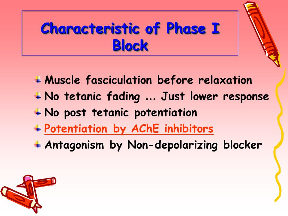 Characteristic of Phase I Block