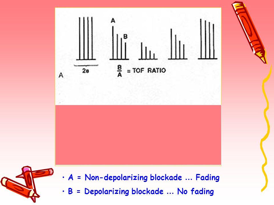 A = Non-depolarizing blockade … Fading