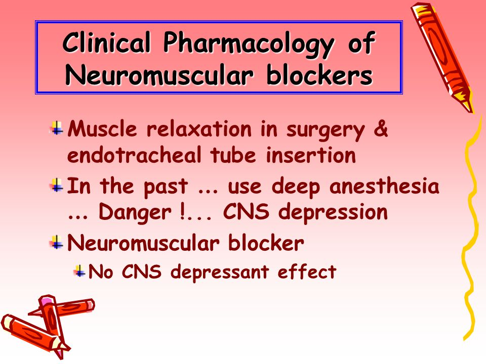 Clinical Pharmacology of Neuromuscular blockers