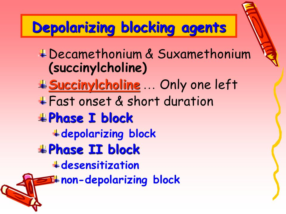Depolarizing blocking agents