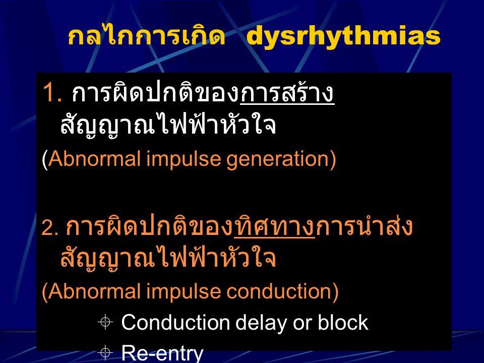 กลไกการเกิด dysrhythmias