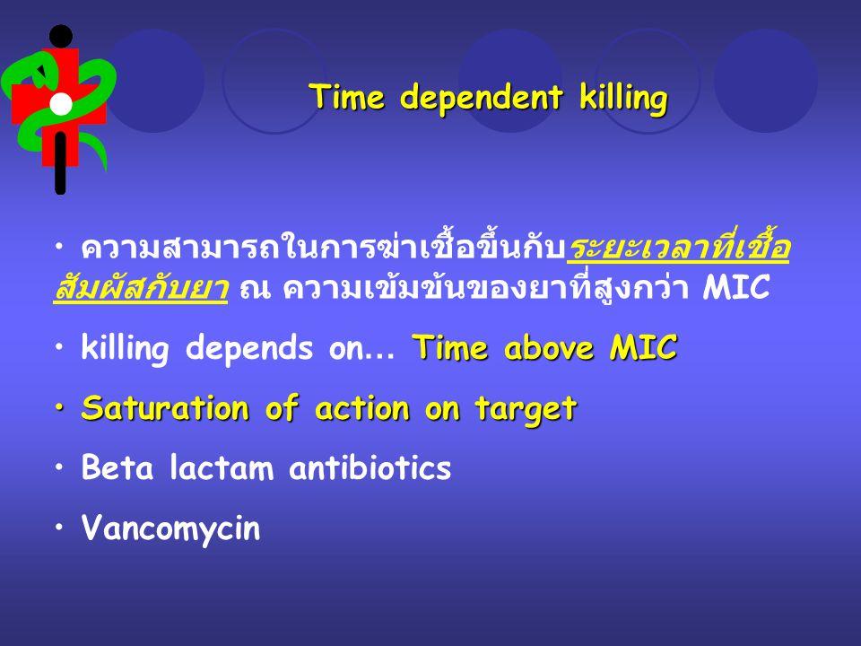 Time dependent killing