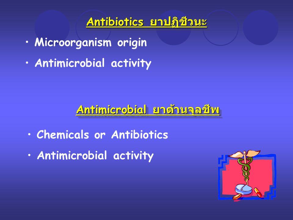 Antibiotics ยาปฏิชีวนะ Antimicrobial ยาต้านจุลชีพ