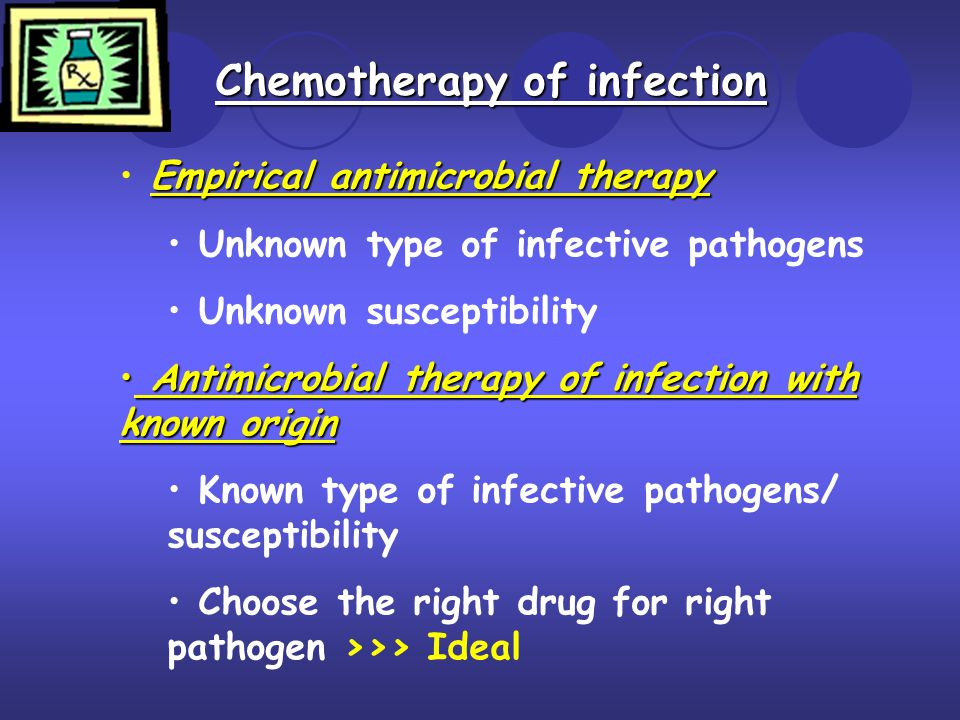 Chemotherapy of infection