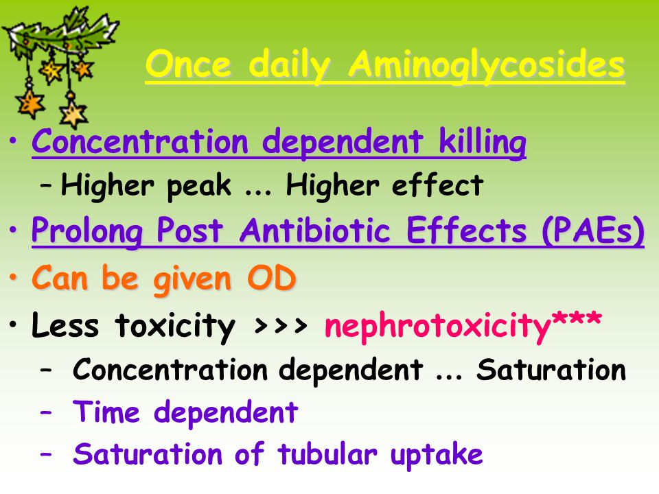 Once daily Aminoglycosides