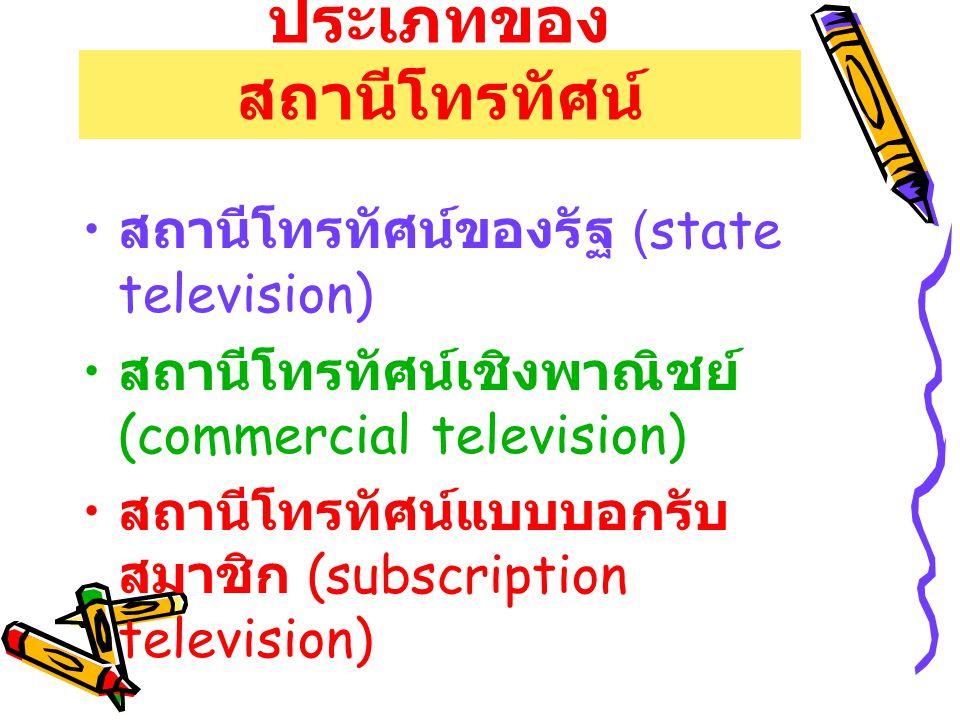 ประเภทของสถานีโทรทัศน์