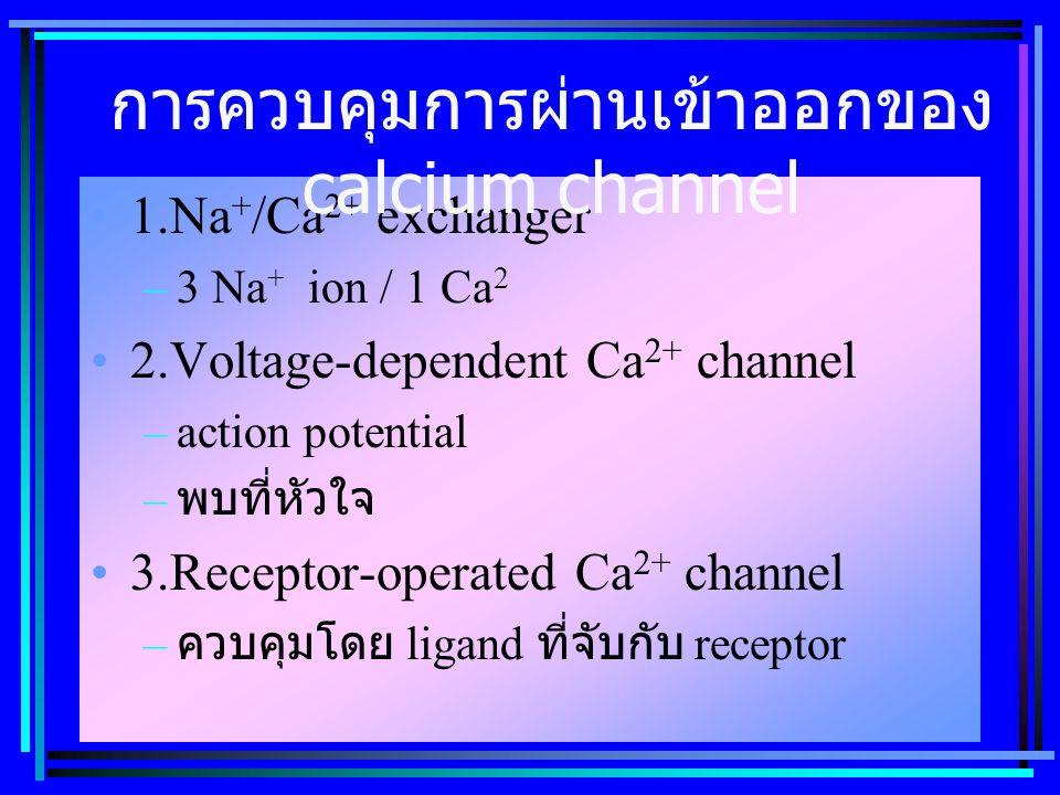 การควบคุมการผ่านเข้าออกของ calcium channel