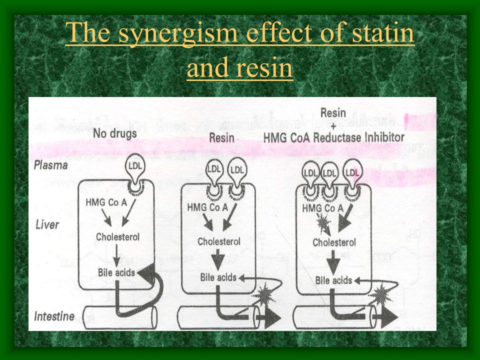 The synergism effect of statin and resin