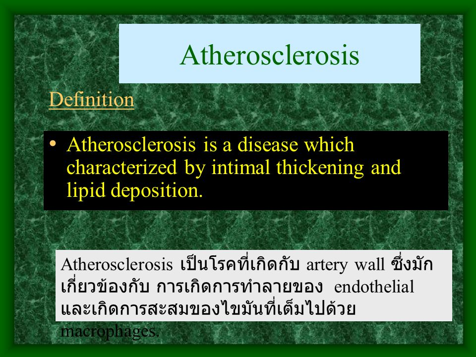 Atherosclerosis Definition