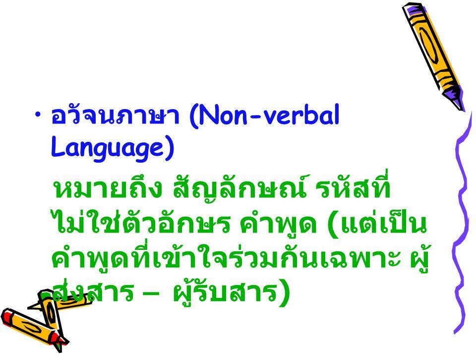 อวัจนภาษา (Non-verbal Language)