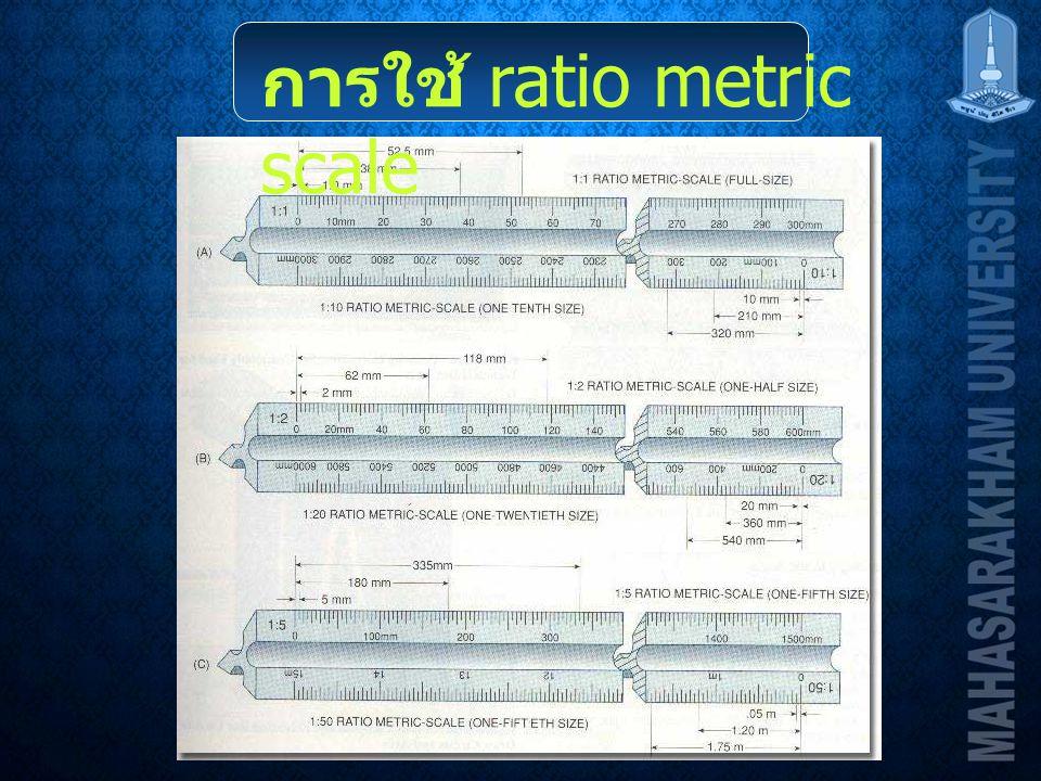 การใช้ ratio metric scale