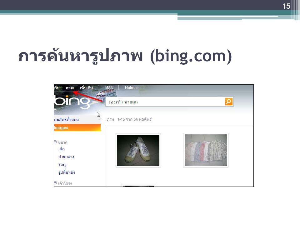 การค้นหารูปภาพ (bing.com)
