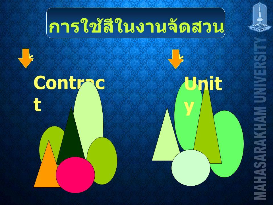 การใช้สีในงานจัดสวน * Contract * Unity