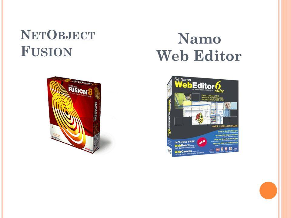 NetObject Fusion Namo Web Editor