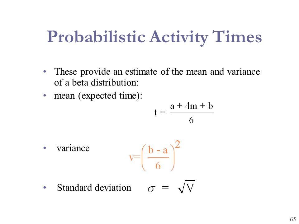 Probabilistic Activity Times