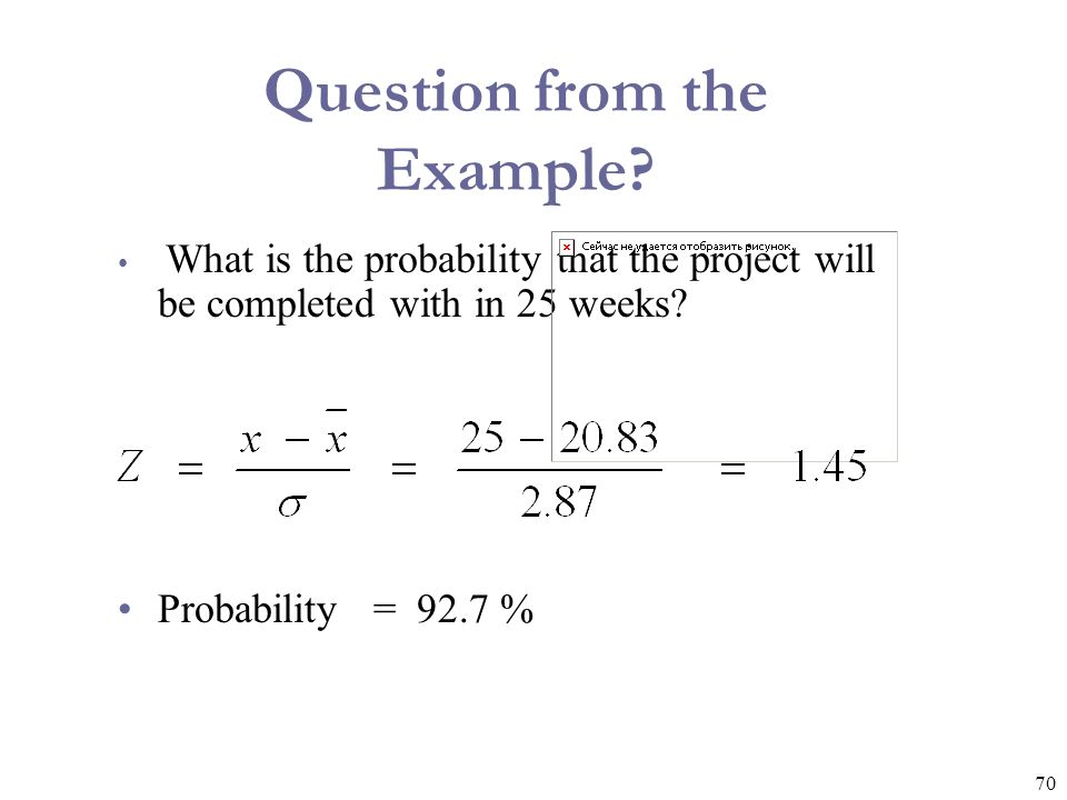 Question from the Example