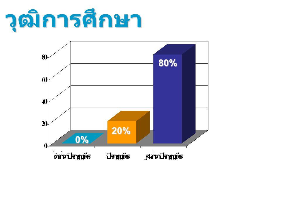 วุฒิการศึกษา 80% 20% 0%