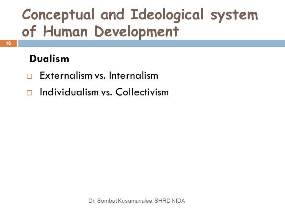 Conceptual and Ideological system of Human Development
