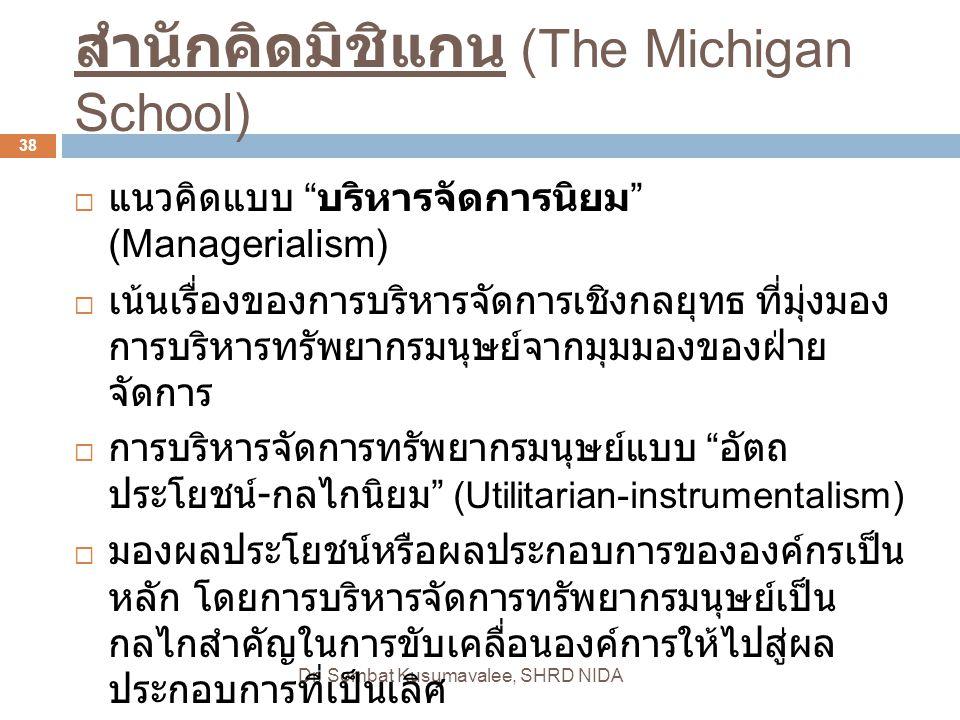สำนักคิดมิชิแกน (The Michigan School)