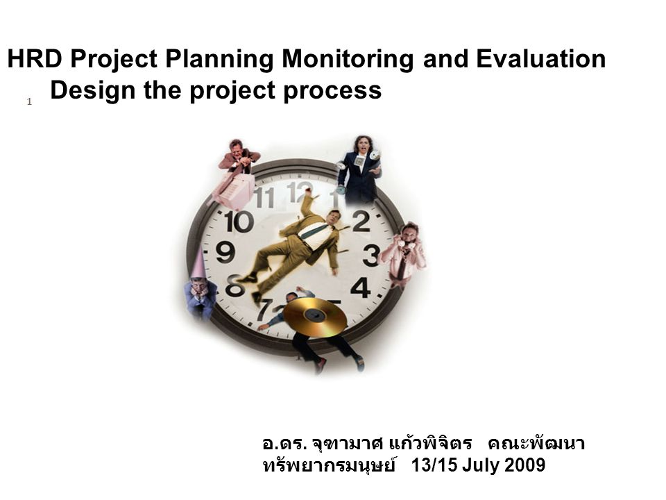 HRD Project Planning Monitoring and Evaluation