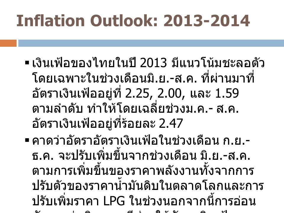 Inflation Outlook: