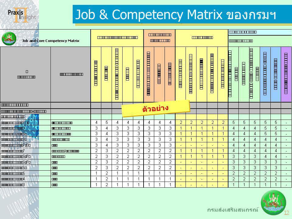 Job & Competency Matrix ของกรมฯ