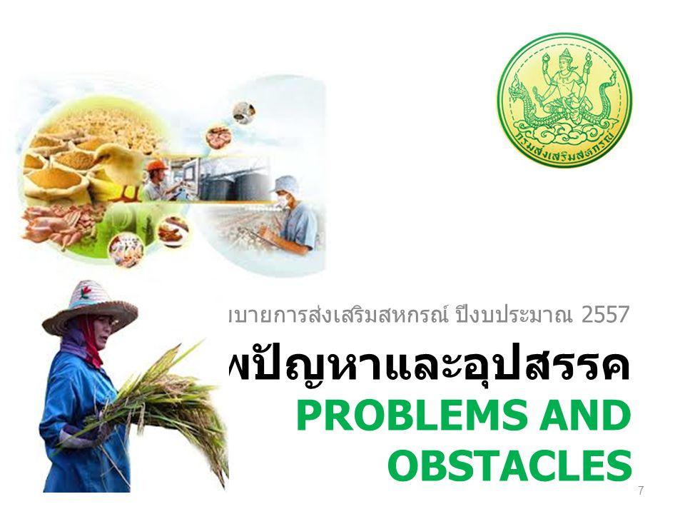 สภาพปัญหาและอุปสรรค Problems and obstacles