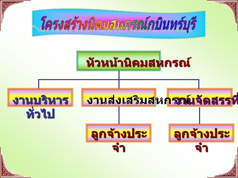 โครงสร้างนิคมสหกรณ์กบินทร์บุรี