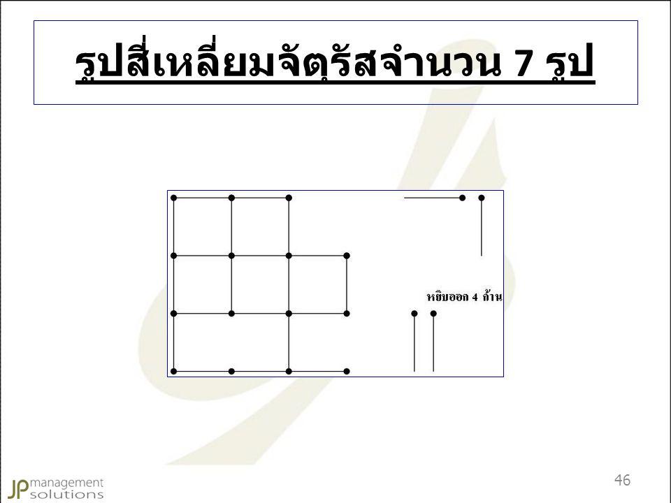 รูปสี่เหลี่ยมจัตุรัสจำนวน 7 รูป