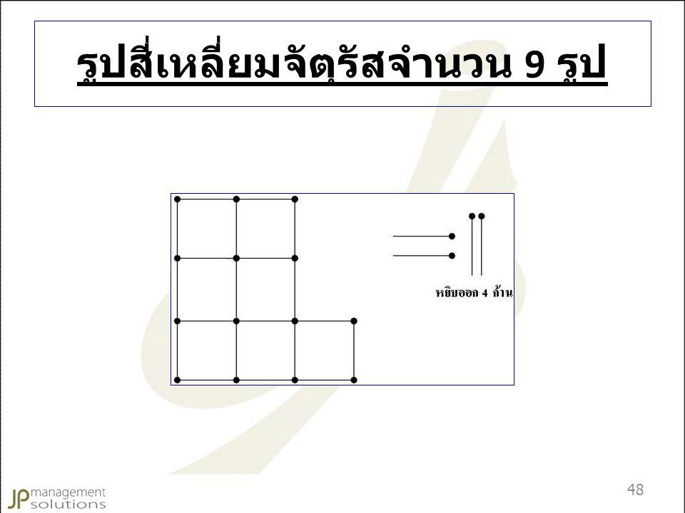 รูปสี่เหลี่ยมจัตุรัสจำนวน 9 รูป