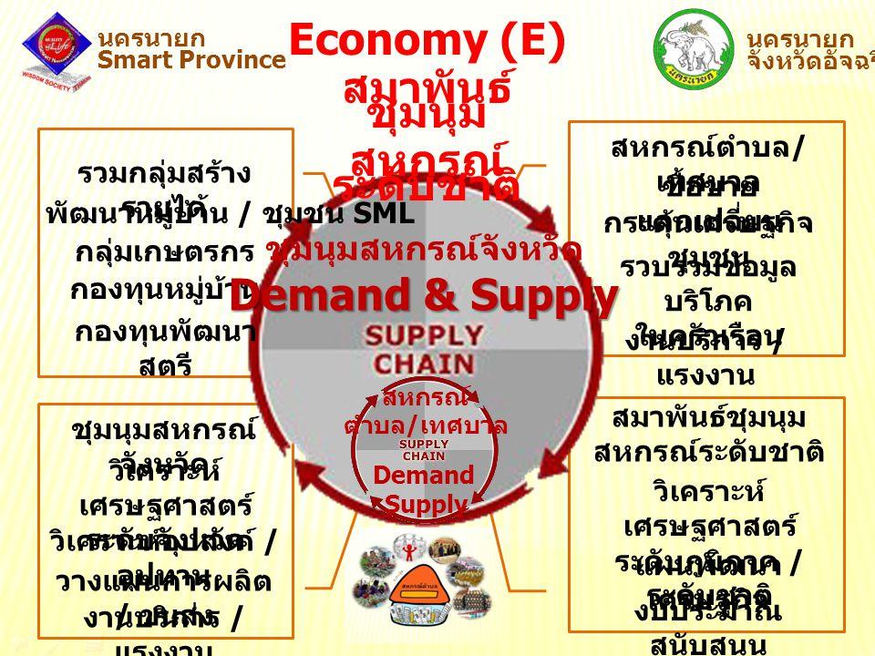 Economy (E) สมาพันธ์ชุมนุม สหกรณ์ระดับชาติ Demand & Supply