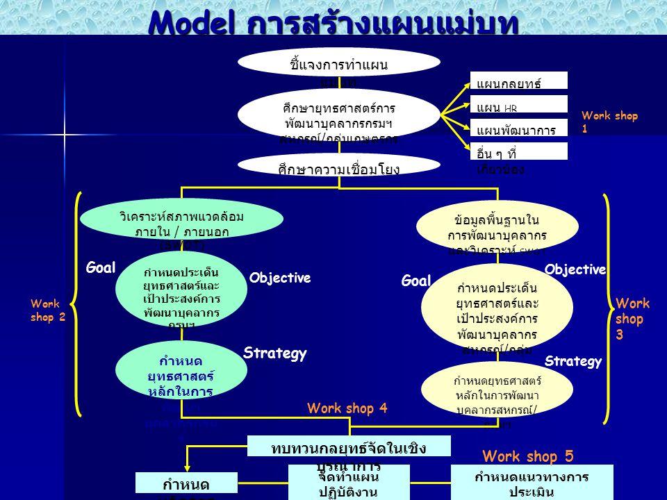 Model การสร้างแผนแม่บท