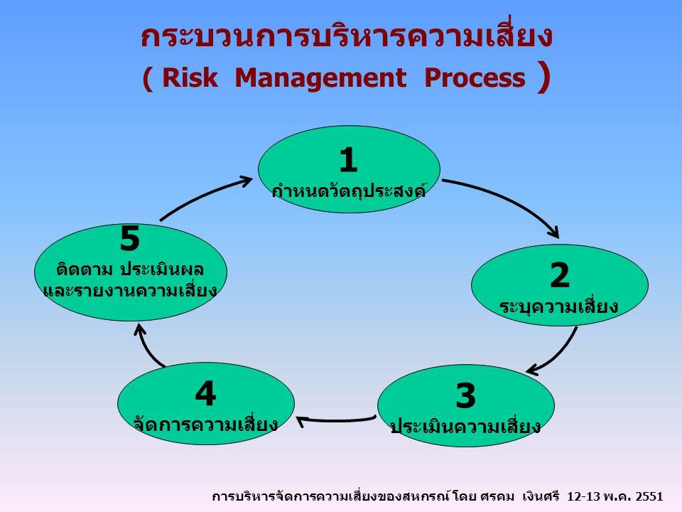 กระบวนการบริหารความเสี่ยง ( Risk Management Process )