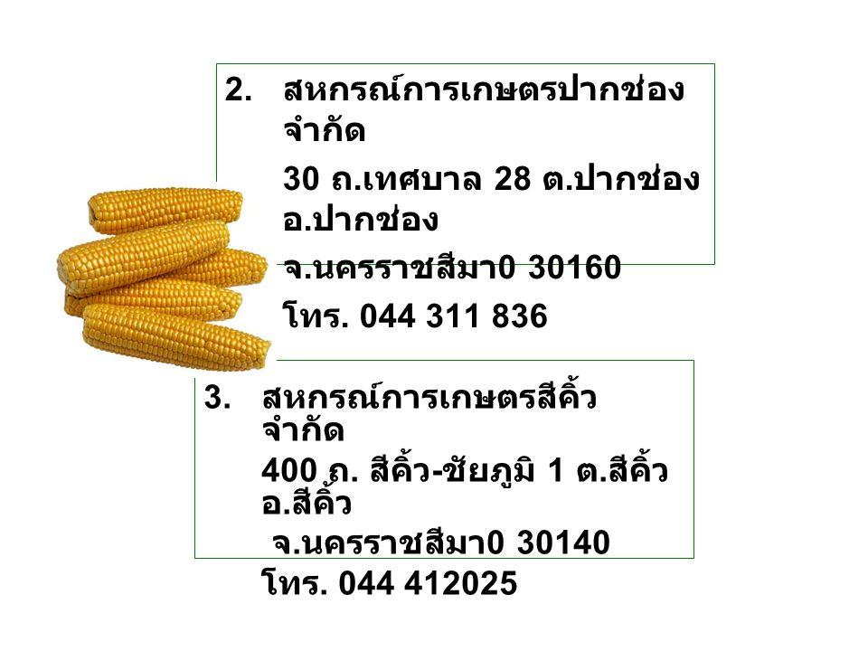 2. สหกรณ์การเกษตรปากช่อง จำกัด