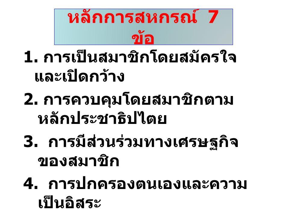 หลักการสหกรณ์ 7 ข้อ