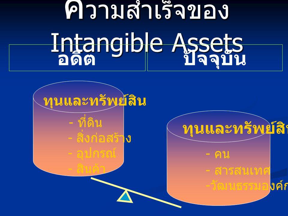 ความสำเร็จของ Intangible Assets