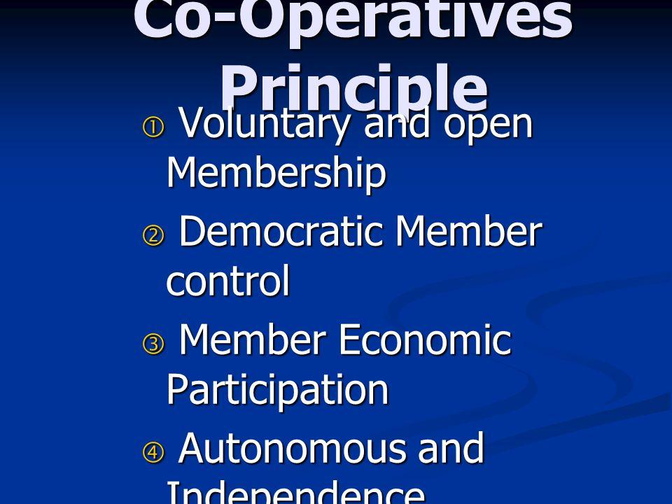 Co-Operatives Principle