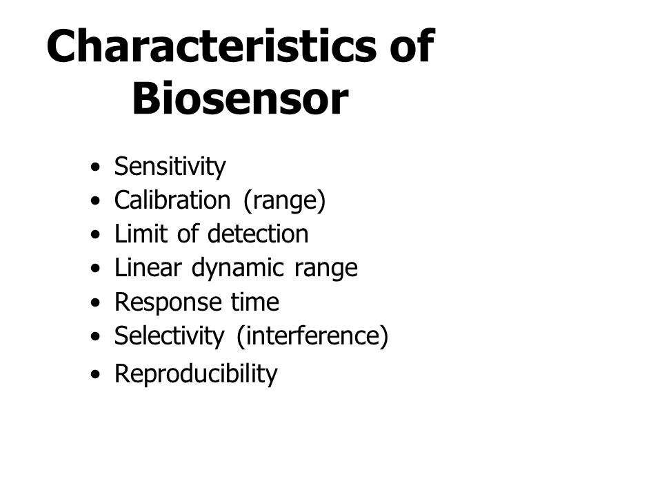 Characteristics of Biosensor