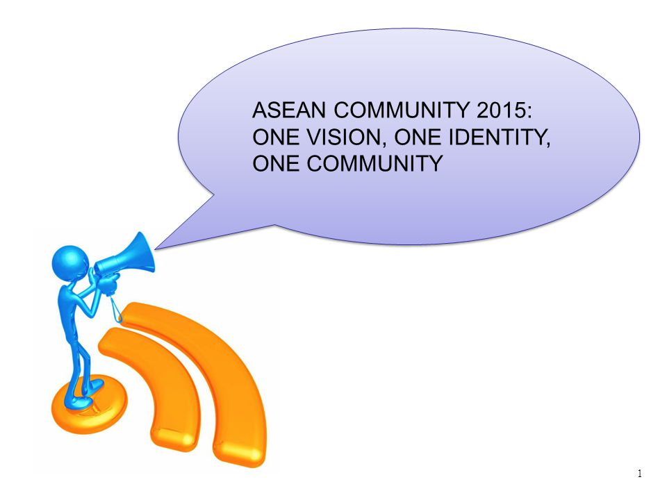 ASEAN COMMUNITY 2015: ONE VISION, ONE IDENTITY, ONE COMMUNITY