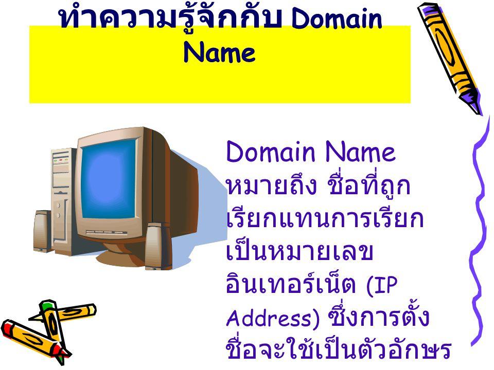 ทำความรู้จักกับ Domain Name