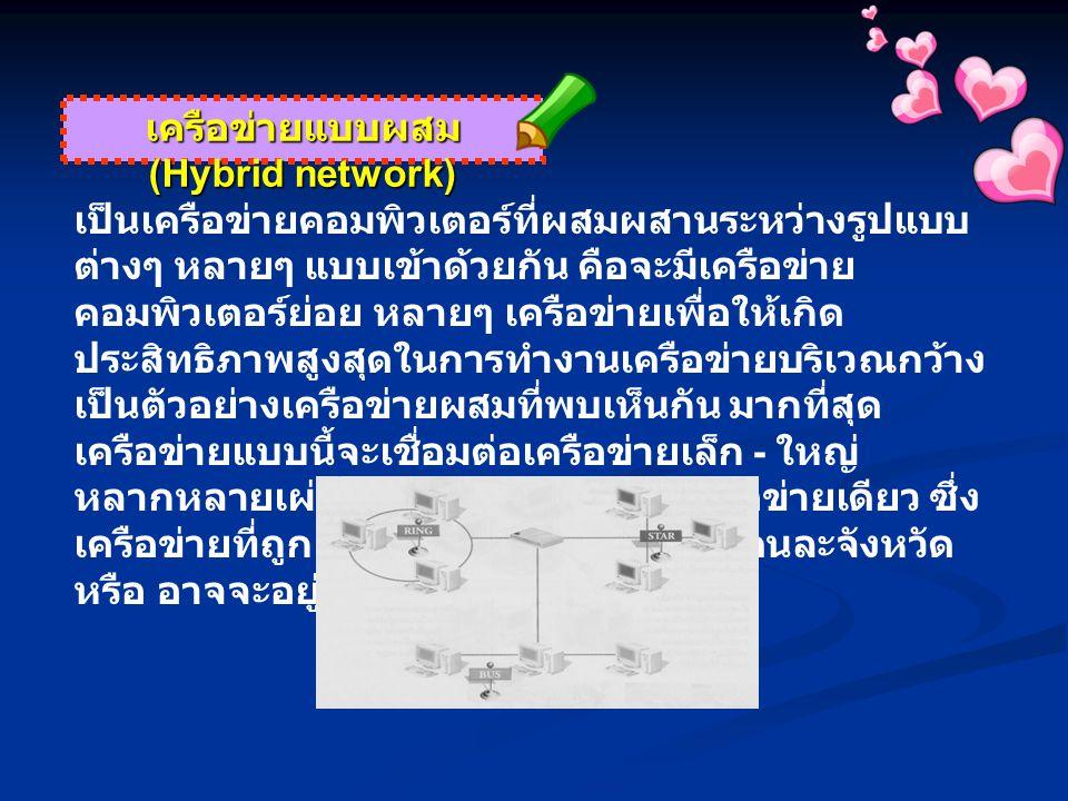 เครือข่ายแบบผสม (Hybrid network)